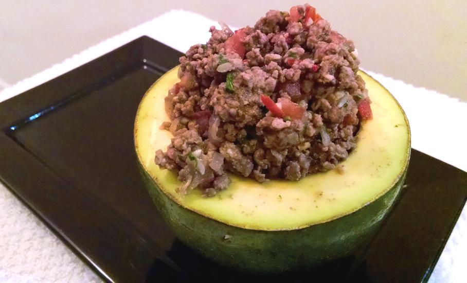 Carne com Abacate