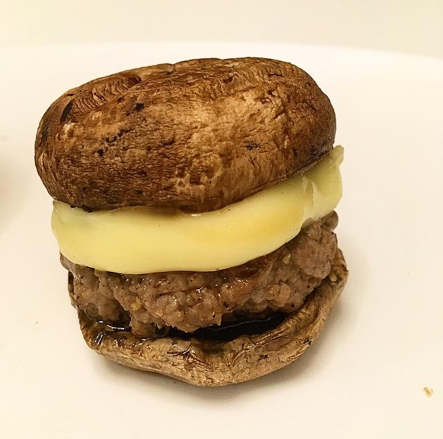 Hambúrguer Low Carb com CogumeloPortobello
